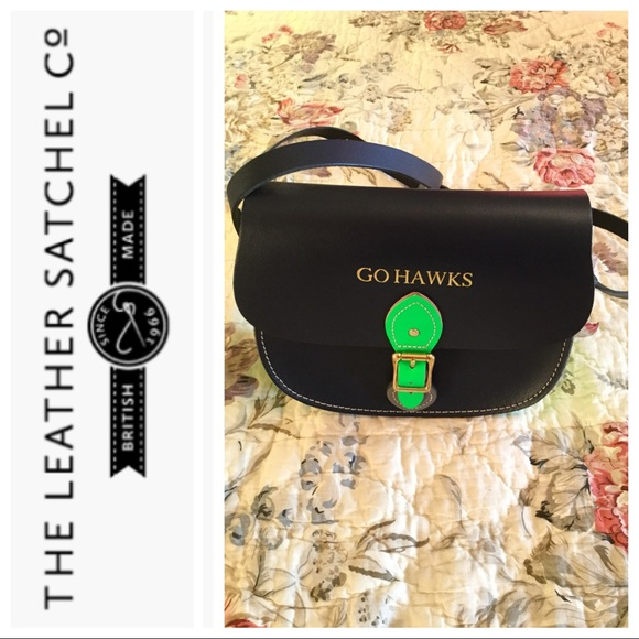 Leather Satchel Company custom Seahawks saddle bag