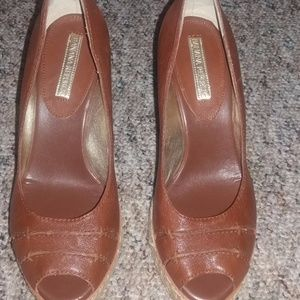 EUC Brown Banana Republic Wedges Sz 9