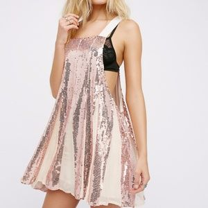 NEW Free People Shimmering Lines Sequined Dress