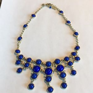 Banana Republic Deep Blue and Gold Necklace