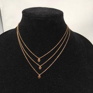 Gorjana Rose Gold Triple Disc Pendant Necklace