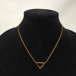 Gorjana Gold Triangle Pendant Necklace