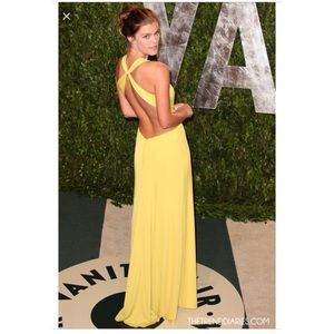 Bcbgmaxazria Yellow Gown