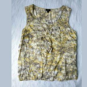 Talbots Womens Ruffle Front Blouse Size 12