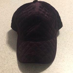 NWOT quilted velvet baseball cap