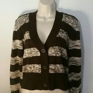 Short striped cardigan