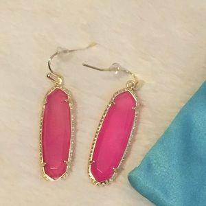 EUC Kendra Scott Pink Agate Layla Earrings