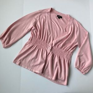 Pink Puffed Sleeved Cardi Size L 🆕 Listing!