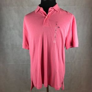 Tommy Hilfiger Classic Fit Polo Shirt L Pink NWT