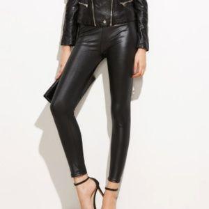Faux Winter Leatherette Leggings