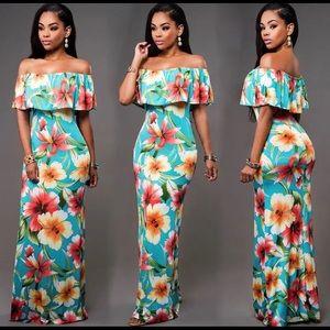 Long maxi boho evening party dress