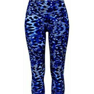 K Deer blue leopard leggings kids L or Xs women