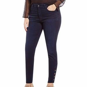 NYDJ Plus Ami Skinny Leggings with Buttons NWT 18W