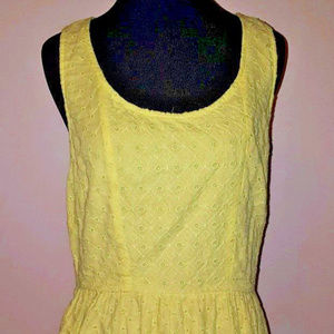 American Eagle Outfitters Yellow Eyelet Dress