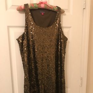 Gold holiday dress