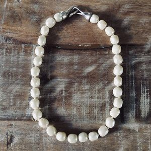 Ann Taylor Vintage Raw Cut Pearl Necklace
