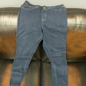 Lane Bryant denim leggings size 14