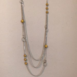 Long three tier necklace