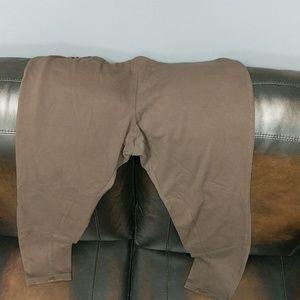 J. Jill brown leggings size L