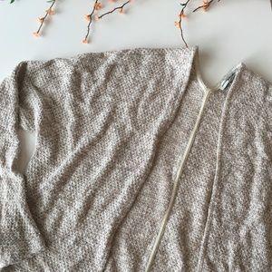 Cream oversized knit cardigan