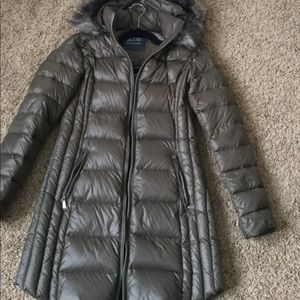 Saks fifth avenue down jacket with fur hood