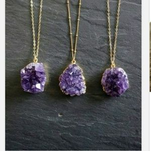 Amethyst cluster necklaces