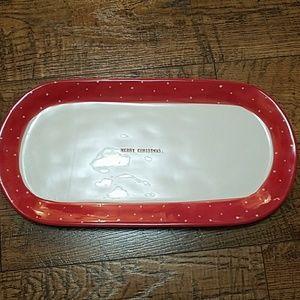 Rae Dunn Merry Christmas platter