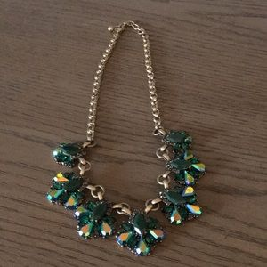 Green stone Statement Necklace.