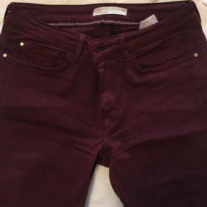 Oxblood Colored Zara Jeans