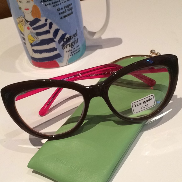 37c35f3eb00 Kate Spade 1.5 Cat Eye Readers Reading Glasses