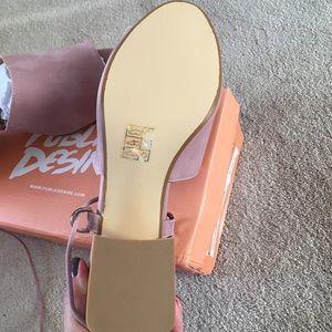 bac93bd8853a Public Desire Shoes - Paddington Lace Up Block Heeled Mules in Mauve