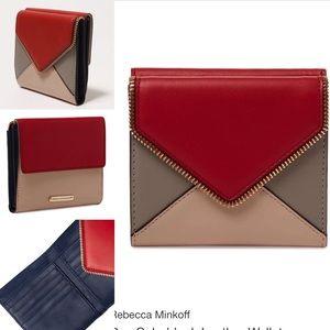 Rare Rebecca Minkoff Dex colorblock leather wallet