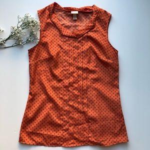 Target Merona Blouse M Sleeveless Shirt Top Orange