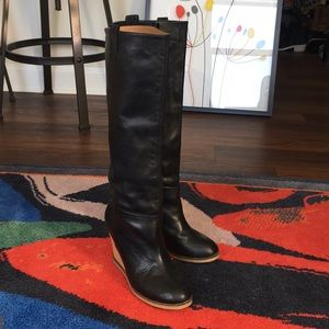 Zara Woman Chloe Inspired Tall Real Leather Boots