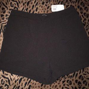 NWT Forever 21 Black Dress Shorts Large