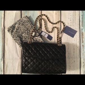 NWT Rebecca Minkoff Quilted Affair Black Handbag