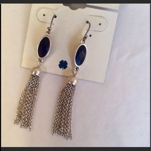NWT Lucky Brand Lapis and Silver Earrings