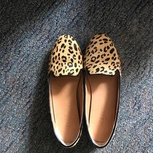 Barely Worn J. Crew calf hair loafers