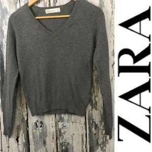 Zara Gray v Neck Sweater