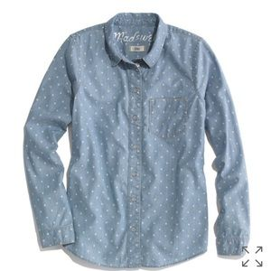 Madewell Dotted Chambray Top