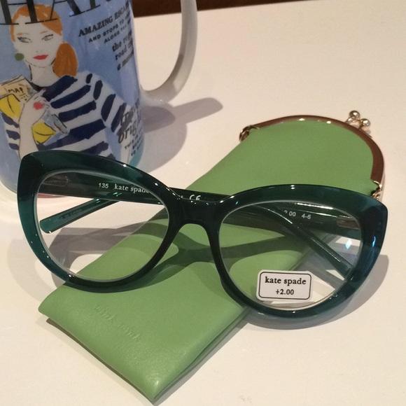58e4d0c9713 Kate Spade Cat Eye +2.0 Readers Reading Glasses