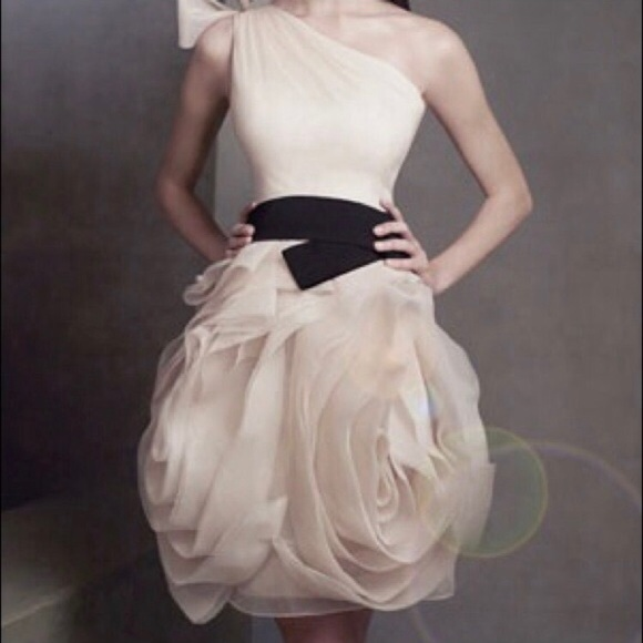 Vera Wang One Shoulder Organza Wedding Dress