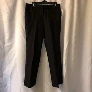 Calvin Klein Black Linen Career Work Pant Trousers