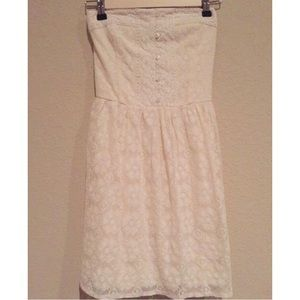 Abercrombie and Fitch lace strapless dress