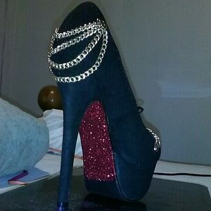 Shoes - Customized Blinged Out Chain Heels