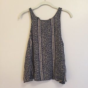 NWOT Detailed Lace-Up-Back Tank Top