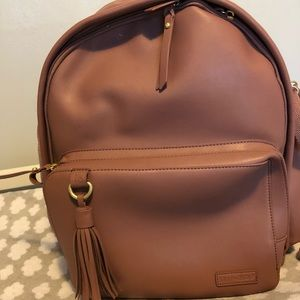Skip hop diaper bag Greenwich dusty rose