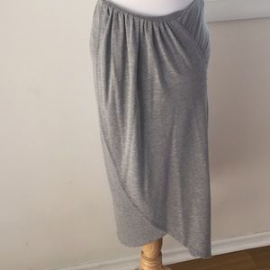 Jersey Knit Faux Wrap Skirt