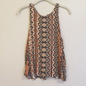 NWOT Detailed Lace-Up-Back Top