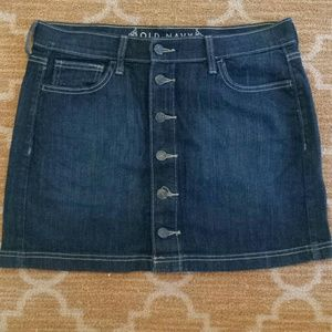 Jean Skirt with Button Down Front.